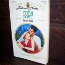 High Risk by Emma Darcey Harlequin Presents Romance Intrigue Novel Paperback Book #1447 April 1992