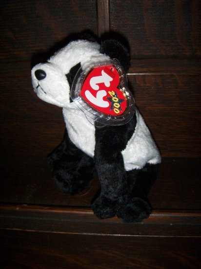 2000 China The Panda Mint Ty Beanie Baby with Tag Protector MWMT 7-08-00 Retired 04-18-01 New