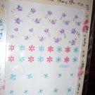 ProArt 3D Finger Toe Nail Art Stickers Purple White Pink Blue Flowers Butterfly Rhinestones