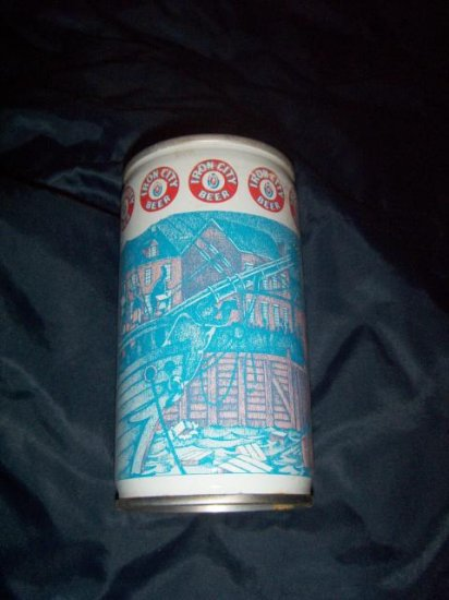 Iron City Sons of Liberty Pittsburgh Brewing Co Straight Steel Pull Tab Top Opened Vintage Beer Can