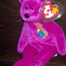 1999 Millennium Bear Ty Beanie Baby with Tag Protector 5th/7th Generation MWMT Retired 11/12/99