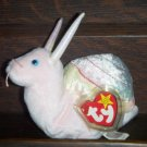 1999 Swirly the Garden Snail Ty Beanie Baby with Tag Protector MWMT Retired