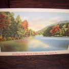 Greetings from Mouth of Elk Creek No Girard Pa Pennsylvania Fall Vintage Unused Linen Postcard