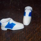 Barbie Vintage Francie Size Blue and White CLOSED TOE Saddle Shoes Shoes