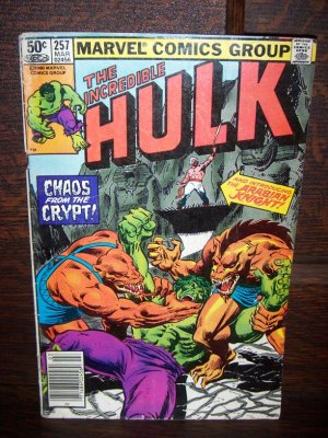 The Incredible Hulk The Arabian Knight Chaos From Crypt Marvel Comic No 257 Magazine