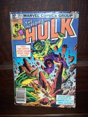 The Incredible Hulk You've Been Attacked Landslide Avalanche Marvel Comic No 263 1981