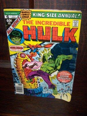 1977 The Incredible Hulk Annual King Sized Doctor Strange Adam Warlock Marvel Comic