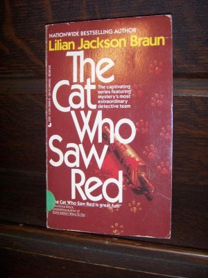 The Cat Who Saw Red by Lilian Jackson Braun Jove Mystery Fiction Paperback Book