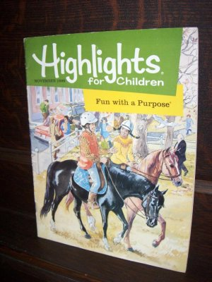 Highlights for Children Nov 1998 Fun with a Purpose Volume 53  565 Educational Magazine