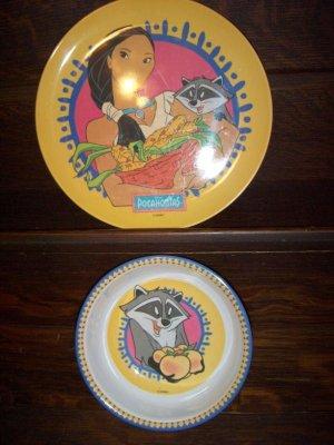 & Disney Pocahontas Meeko Childrens Dining Plate Bowl Zak Designs Set