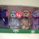 Ty Clubby I II III IV Happy Holiday Jingle Beanie Babies Collection in Christmas Box