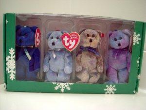 Ty Clubby I II III IV Happy Holiday Jingle Beanie Babies Collection in Christmas Box