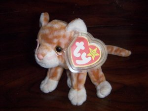 1999 Amber the Cat Ty Beanie Babies mwmt tag protector 5th/8th Generation Retired