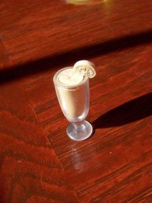 Barbie Blythe Size Orange Shake Glass Mini Food Accessory