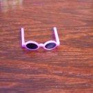 Barbie Size Pink Sun Glasses with Black Lens Mini Accessory