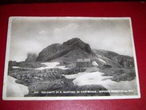 1941 Dolomiti S Martino Di Castrozza Rifugio Rosetta Italian Photo Postcard