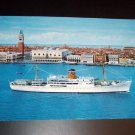 Adriatica Cruisliner Vintage Chrome International Postcard Israel stamps
