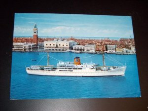 Adriatica Cruisliner Vintage Chrome International Postcard Israel stamps