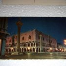Vintage Venezia The Ducal Palace by night Italian International Postcard unused