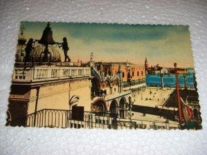 Vintage Venezia Lesser St Marcs Square Italian Postcard Italy International unused