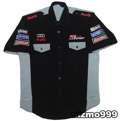 Audi Sport Racing Pit Crew Black Gray Shirt Size S