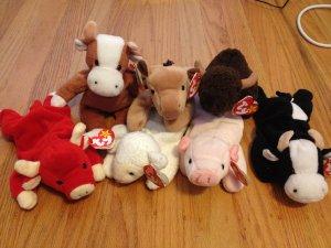 eb4663ddb79 Buy the (Beanie Baby) Farm! Lot of 7 Farm Animals