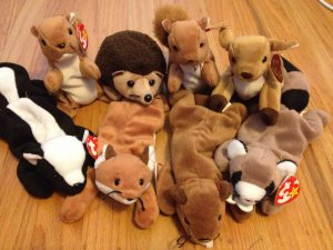 136dff9300e Beanie Baby Woodland Critters Lot of 8 (Nuts