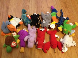 39d1f308ee3 Lot of 14 McDonalds Teenie Beanies Mid-90s Ty Beanie Babies