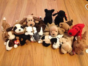 3f3b98bd7cf Woof! Lot of 17 Beanie Baby Pooches! Rover