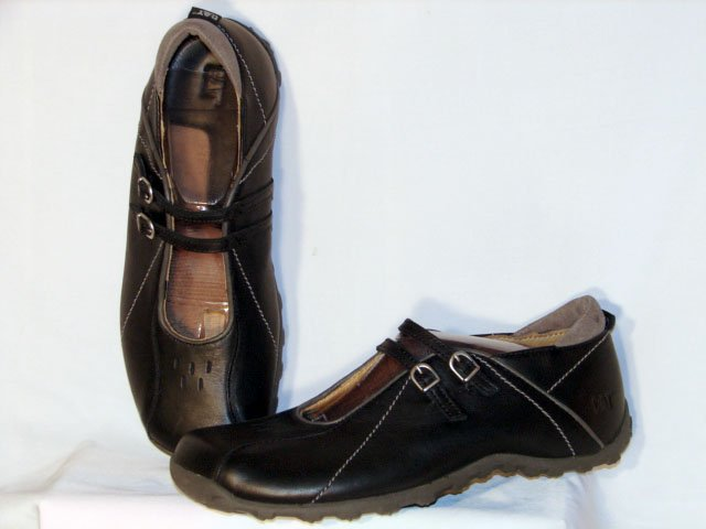 Cat Caterpillar Leather Walking Shoes Womens 9.5W NEW