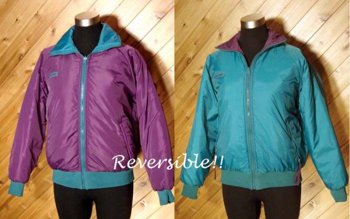 Columbia Women Reversible Purple Teal Jacket M Outerwear