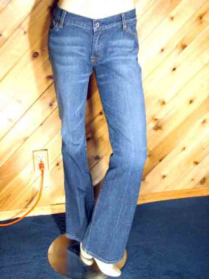 Seven 7 Blue Jeans Boot Stretch Low Rise 28/32 3/4