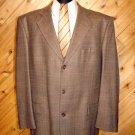 Stafford Mens Brn Tweed 3 Btn Wool Blazer 42R +Silk Tie