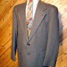 Fairfax Mens Wool Taupe Blazer Sportcoat 42R Silk Tie