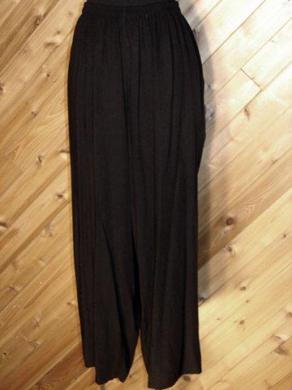 Lotus Trader Blk Lt Weight Pants Wide Leg 2X Plus NWOT