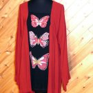 Lotustraders Butterfly Blouse Tunic Top OSFA NWT