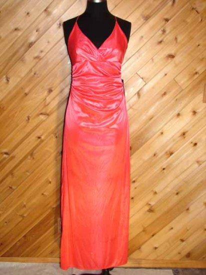 City Triangles Coral Gltr Evening Prom Dress Prom L NWT