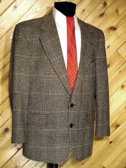 Turnbury Mens Wool Grey Blazer Sport Coat 40R +Silk Tie