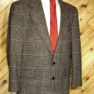 Turnbury Mens Wool Grey Blazer Sport Coat 40R +Silk Tie
