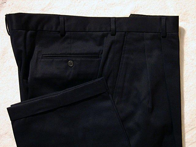 Lands End Navy Casual Cotton Mens Pants 42/30