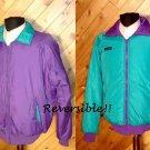 Columbia Reversible Men Purple/Green Outerwear Jacket L