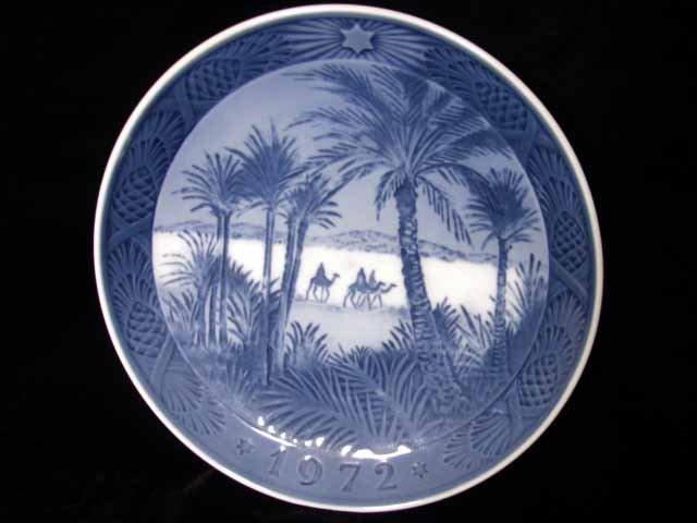 Royal Copenhagen Denmark 1972 Xmas Plate In the Desert