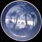 Royal Copenhagen Denmark 1972 Xmas Plate In the Desert