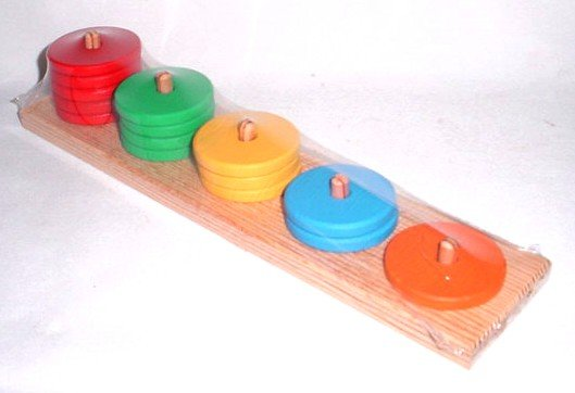 Wooden Round stacks color and counting toy