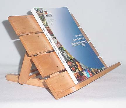 Wooden Book Stand Natural Large