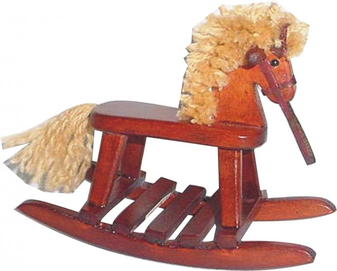 Wooden Rocking Horse Classic Brown finish