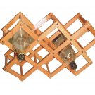 Wooden Foldable Wine Rack  / 8 racks