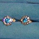 Dabro Gold Filled Rhinestone Earrings  Screwback