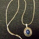 Sterling Pendant with Lapis Center Stone
