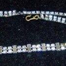 """Vintage Rhinestone 14"""" Double Strand Necklace"""